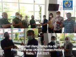 Sambutan Ulang Tahun ke-56 H Bustan Pinrang Presiden Partai UKM