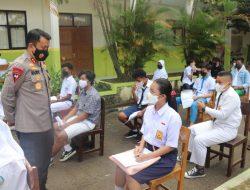 Tinjau Vaksinasi Pelajar, Kapolda Banten Ajak untuk selalu Pakai Masker