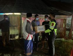 Jum'at Malam, Polres Aceh Utara Kerahkan 154 Personel, Berpatroli Sembari Bagikan Sembako