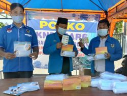 DPD KNPI jawa Timur Resmikan Posko Relawan Prokes Covid 19 DPD KNPI Pamekasan