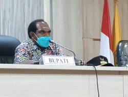 Bupati Keerom : Penyaluran DD secara Virtual Bentuk Sosialisasi dan Komitmen Besar Pemerintah Melayani Masyarakat