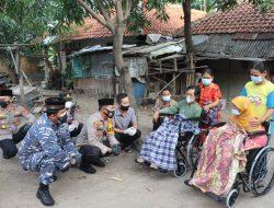 Kapolres Cirebon Kota, berikan 2 kursi roda sekaligus juga sembako untuk pasutri yang lumpuh selama 10 Tahun.