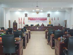 Rapat Paripurna DPRD Samosir dalam rangka penetapan hasil Reses II