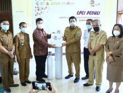 Pemkab Samosir Terima Bantuan CSR dari LPEI yang dirangkai Kegiatan Vaksinasi Massal di Kecamatan Harian