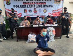 """Tempo waktu enam jam"""" Pelaku ANIRAT sadis berhasil di ringkus Tim Serigala Utara Polres Lampung Utara"""