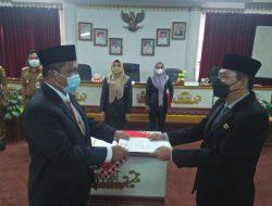Bupati Lantik Lima Pejabat Pimpinan Tinggi Pratama Pemkab Tanggamus