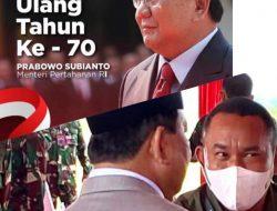 Agustinus Nahak: Selamat Ulang Tahun Ke-70 Letjen TNI (Purn) H Prabowo Subianto